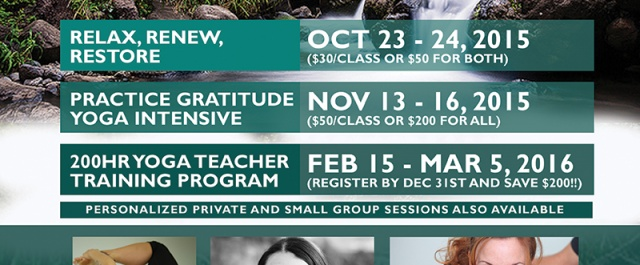 Practice Gratitude Yoga Intensive from Nov 13-16th