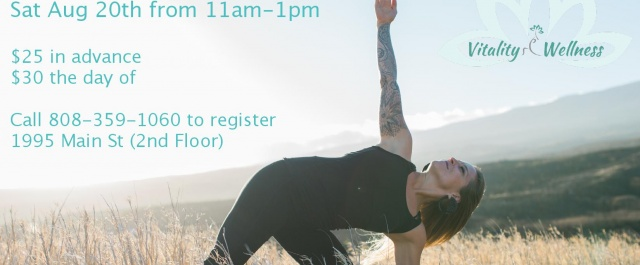 Happy Healthy Hips Workshop with Megan Sat Aug 20th