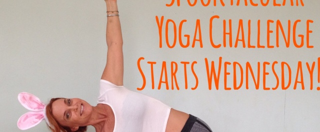 Spooktacular Yoga Challenge starts Wednesday October 21st!!