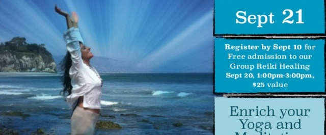 Group Reiki Healing on Sept 20th and Reiki 1 Training on 21st